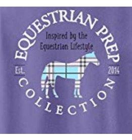 Equestrian Prep Eq Prep Preppy Plaid Horse Long Sleeve Tee