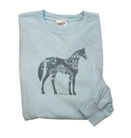 Stirrups Clothing Company Paisley Horse Long Sleeve Tee