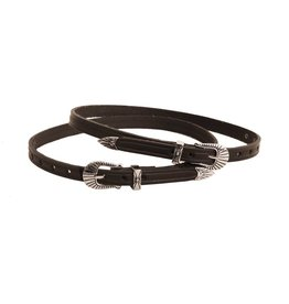 Tory Leathers Silver Buckle Spur Strap