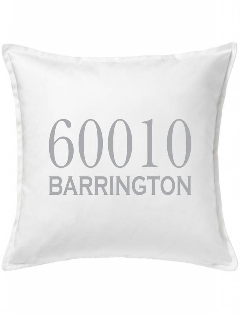 White Custom Pillow-2A-Traditional Zipcode