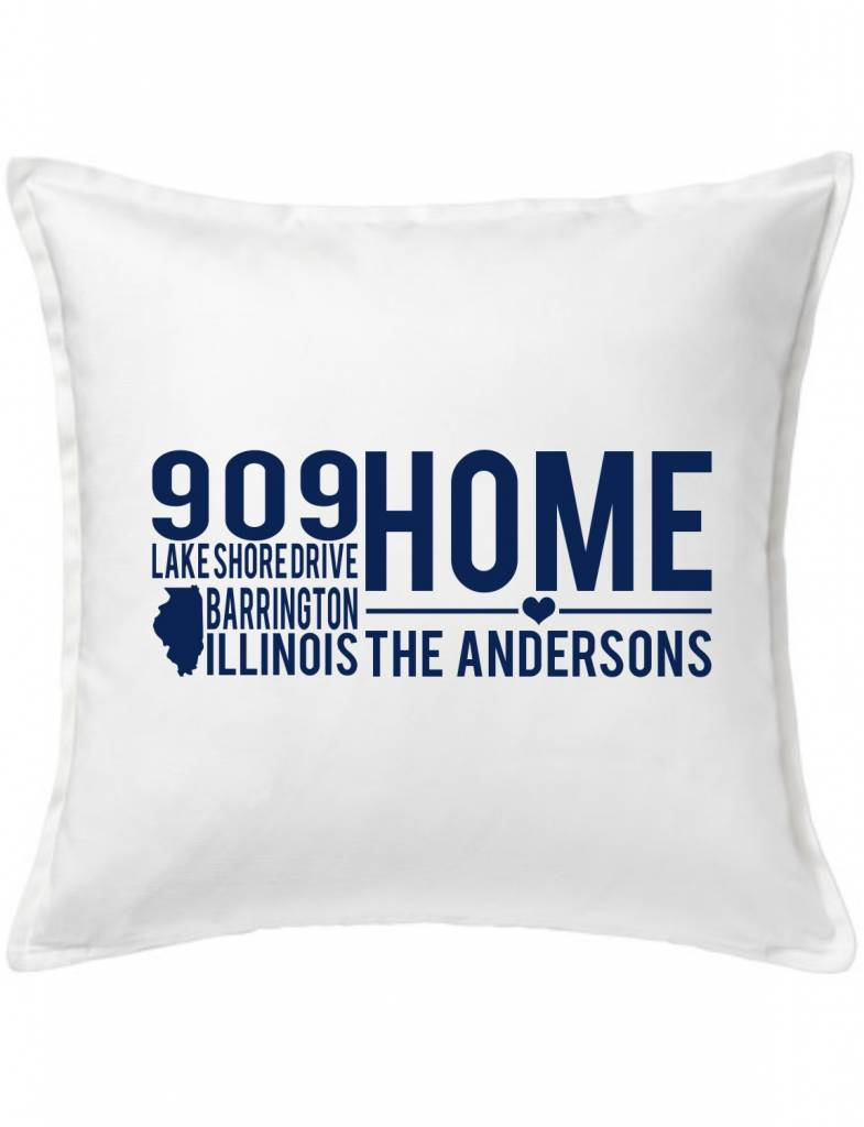 White Custom Pillow-9A-Home On A Quiet Street