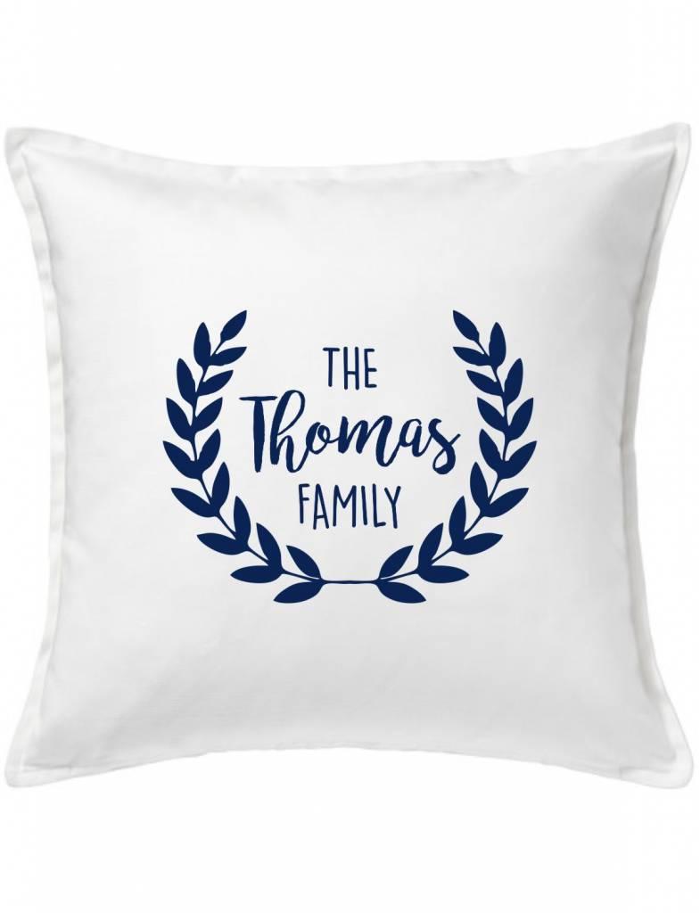 Custom Pillow-21A-Classic Family Wreath