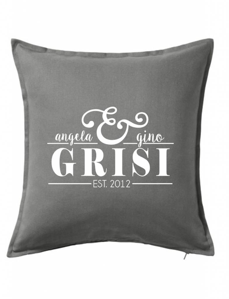 Gray Custom Pillow-43B-Established Couple