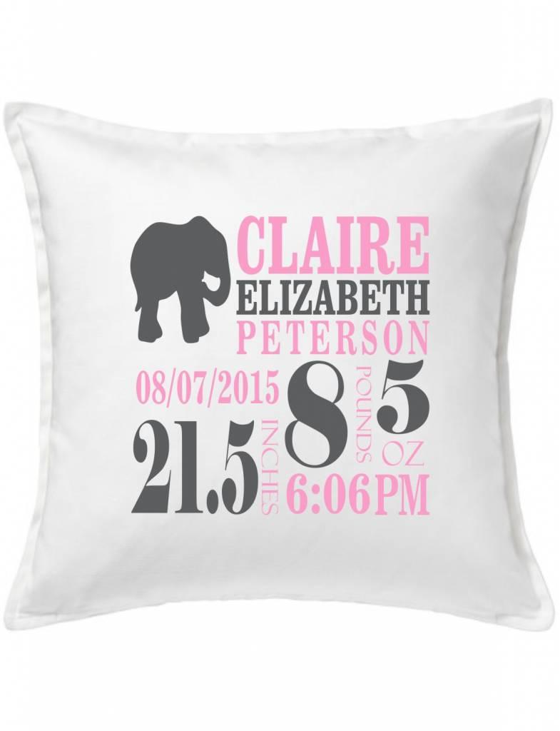 White Custom Pillow-66C-Elephant Announcement