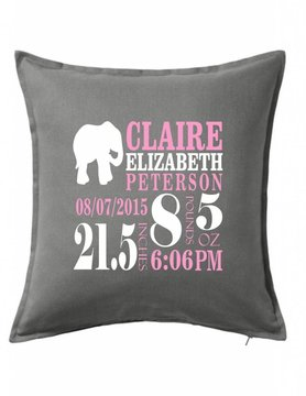 Gray Custom Pillow-66D-Elephant Announcement