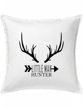 White Custom Pillow-73A-Little Man Hunter