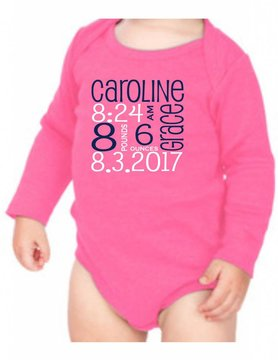 #634 Infant Long Sleeve Onesie-KID1-Pupcat Announcement