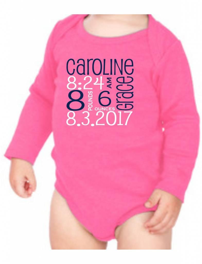 #634 Infant Long Sleeve Onesie-KID1-Pupcat Announcement