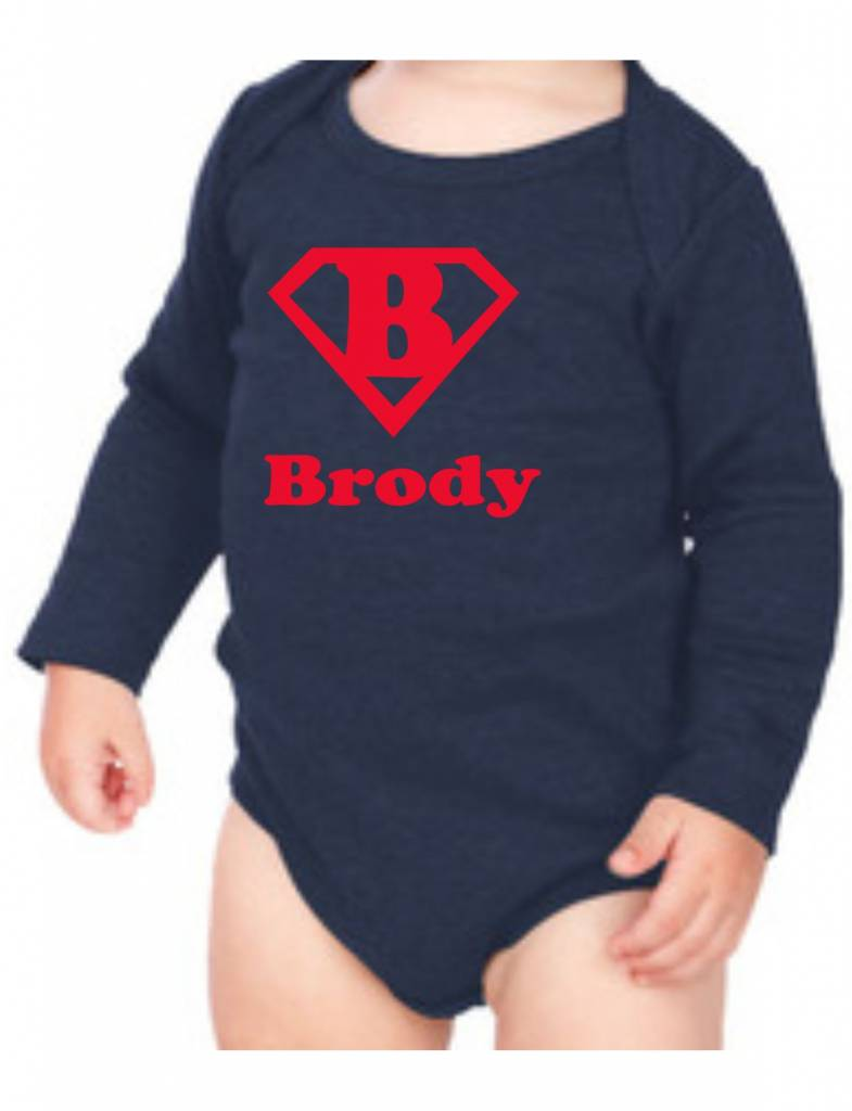 #634 Infant Long Sleeve Onesie-KID63-Superman