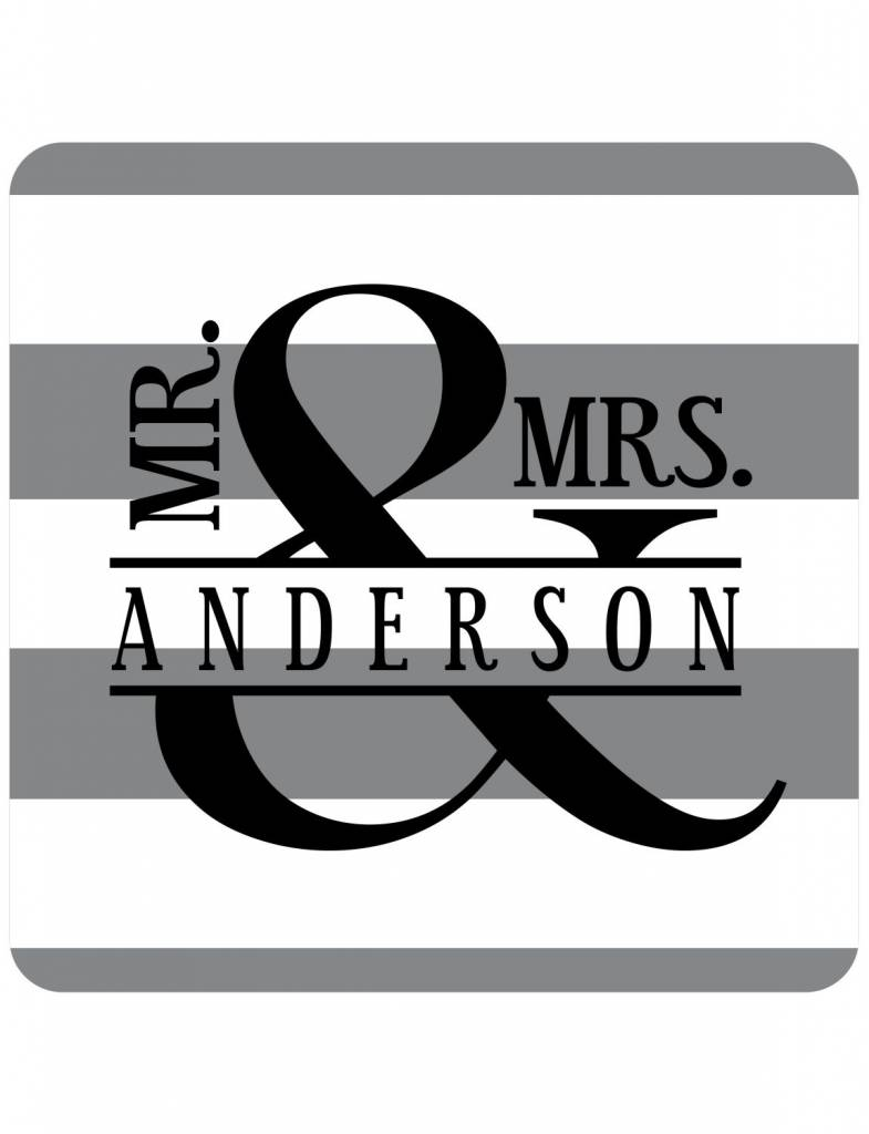 Custom Coasters-CSR36-Mr. and Mrs.