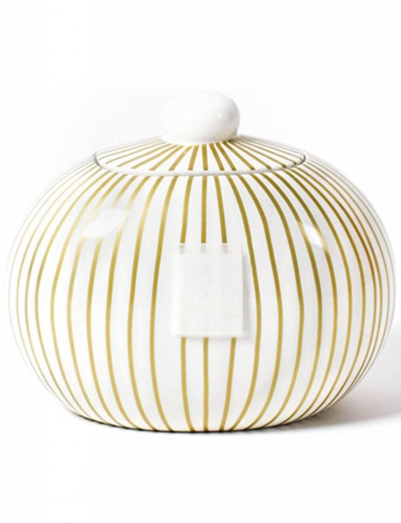 Gold Stripe Happy Everything Mini Cookie Jar