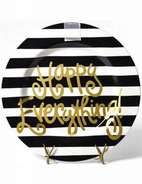 Black Stripe Happy Everything Big Platter