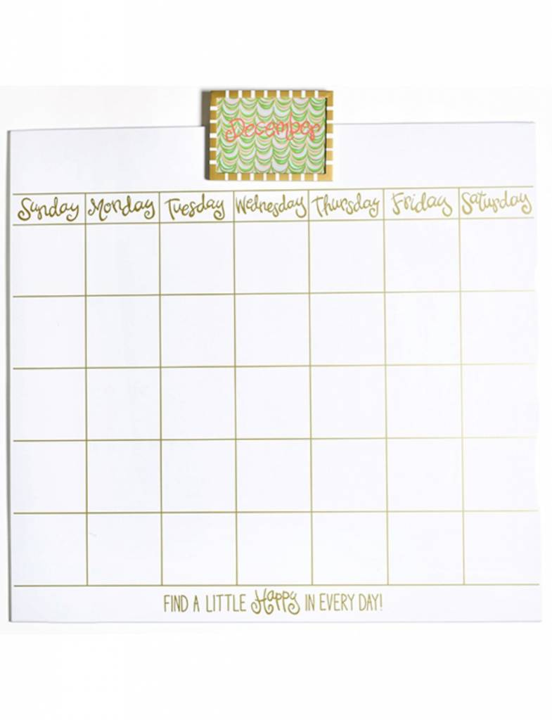 Happy Everything Magnetic Dry Erase 30in Wall Calendar Heads Up