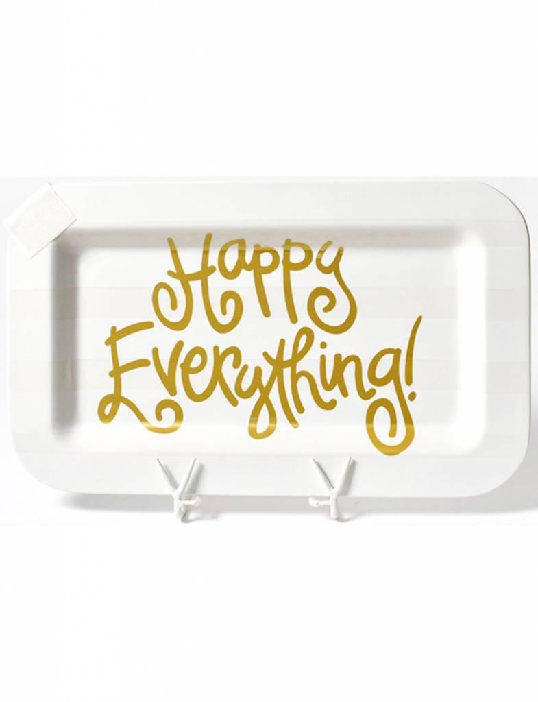 White Stripe Happy Everything Mini Rectangle Platter