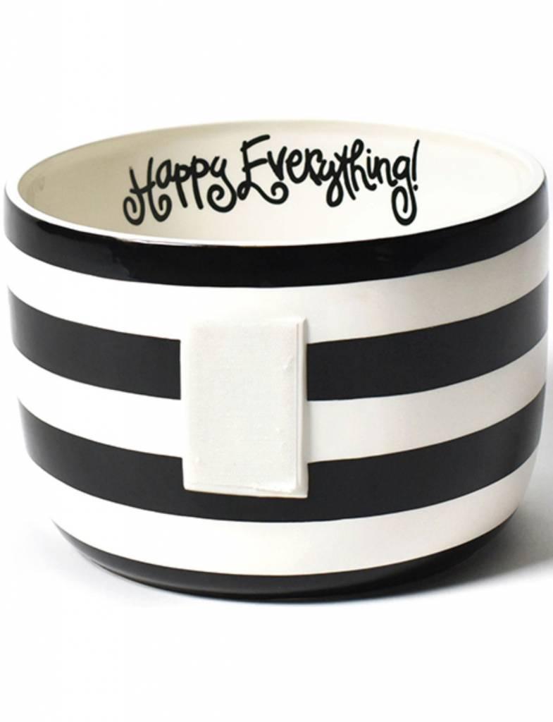 Black Stripe Happy Everything Big Bowl
