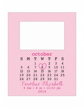 Custom Frame-KDF19-Jack Input Calendar Birth Announcement