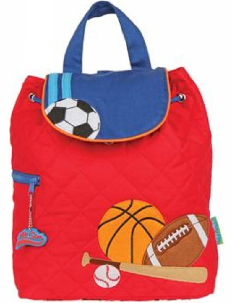 Quilted Backpack Sports Embroidered