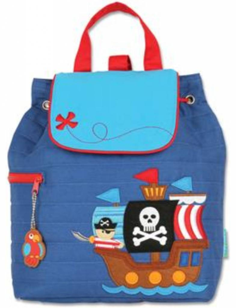 Quilted Backpack Pirate Embroidered