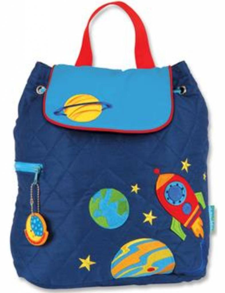 Quilted Backpack Space Embroidered