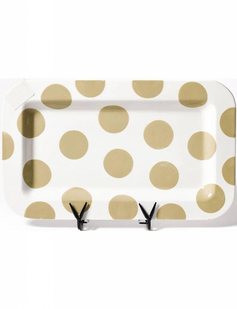 Neutral Dot Happy Everything Rectangle Mini Platter