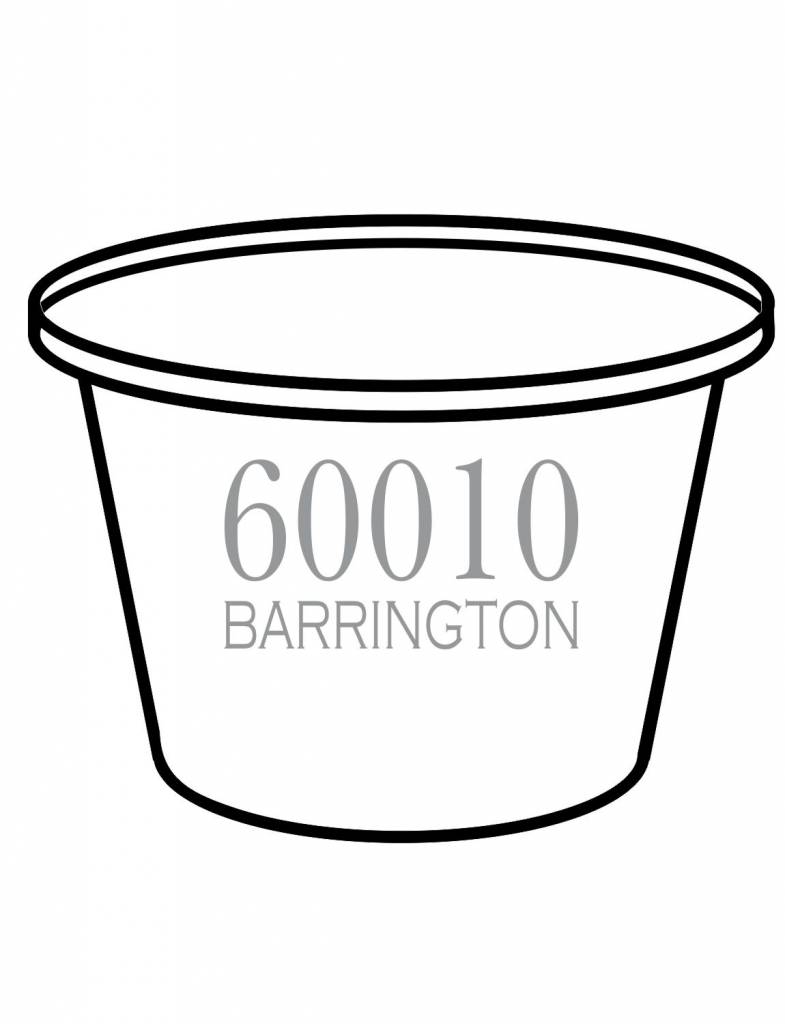 Acrylic Party Bucket-ACR 67-Traditional Zip Code