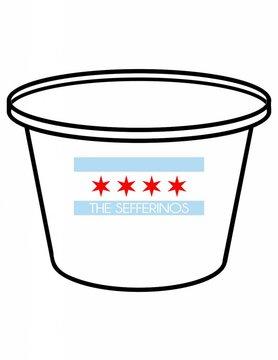 Acrylic Party Bucket-ACR 58-Chicago Flag Family
