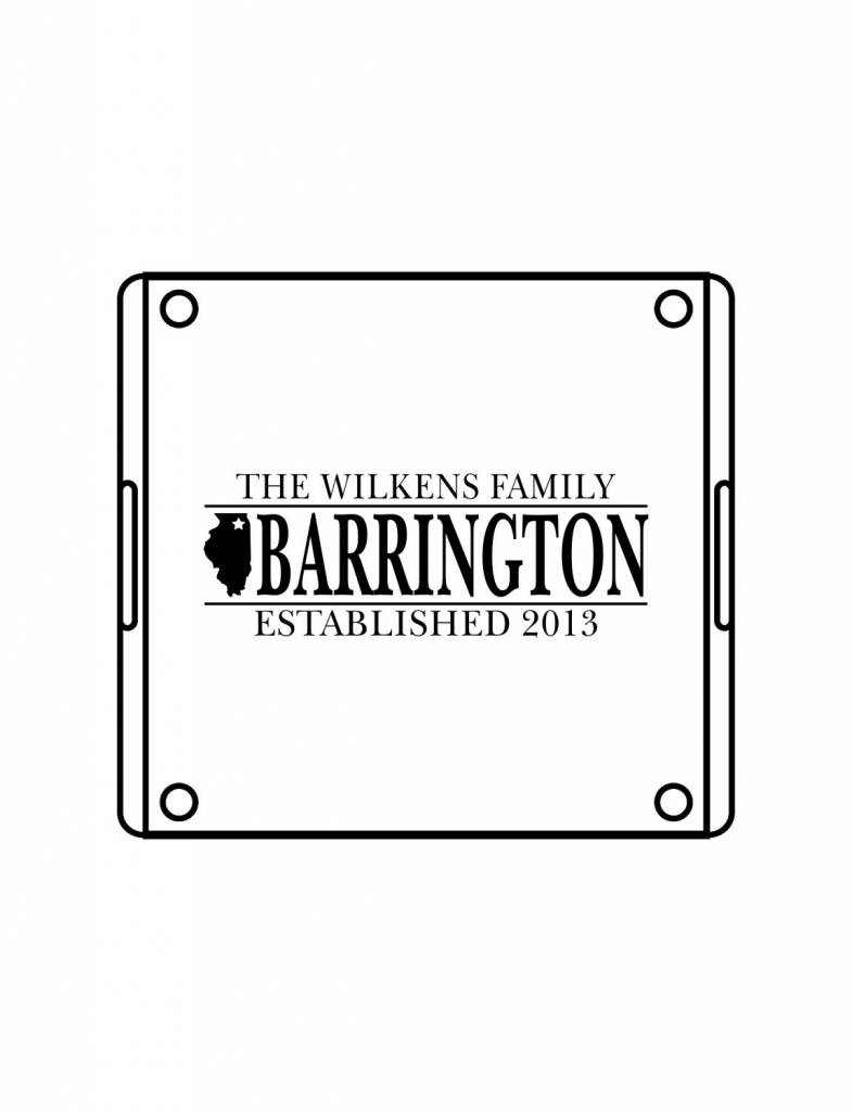Acrylic Square Tray-ACR68-Family Hometown
