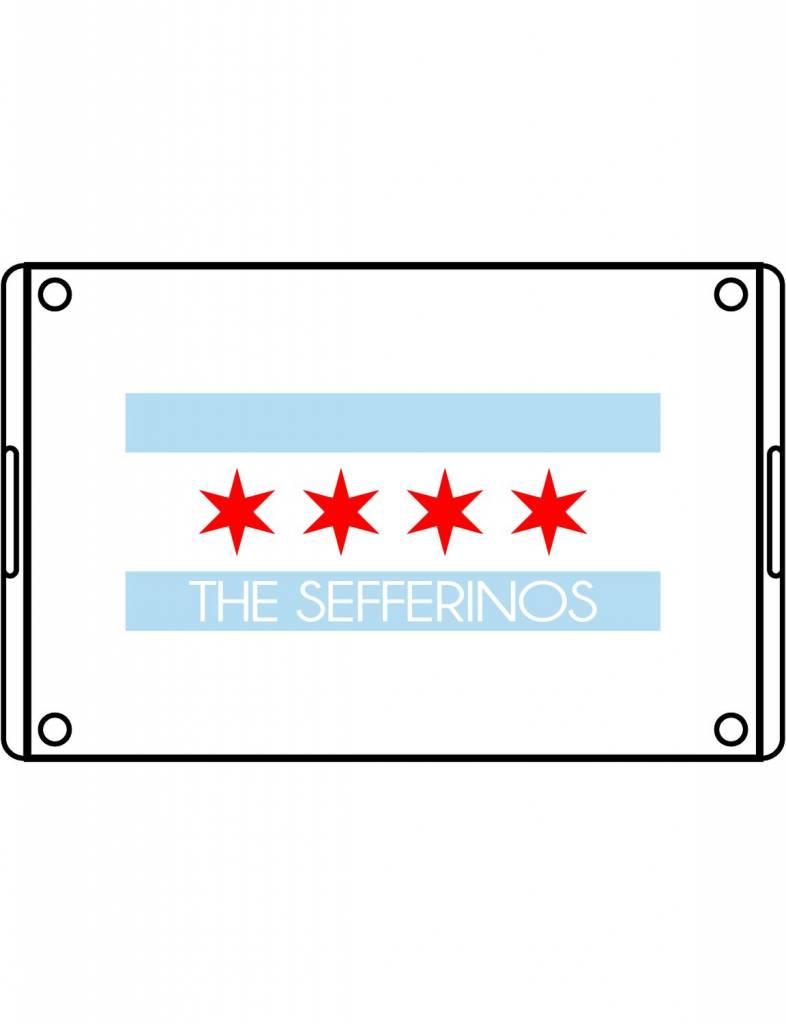 Acrylic Large Rectangular Tray-ACR58-Chicago Flag Family