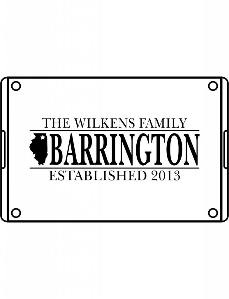Acrylic Large Rectangular Tray-ACR68-Family Hometown
