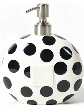 Black Dot Happy Everything Mini Soap Pump