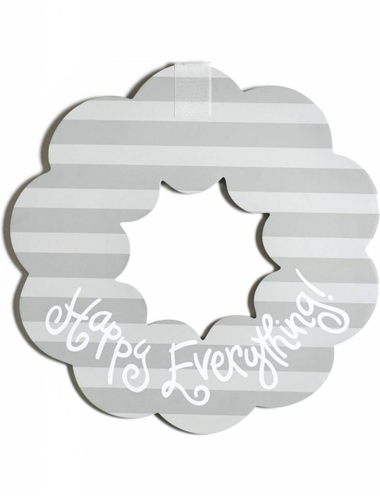 Stone Stripe Happy Everything Big Wooden Wreath