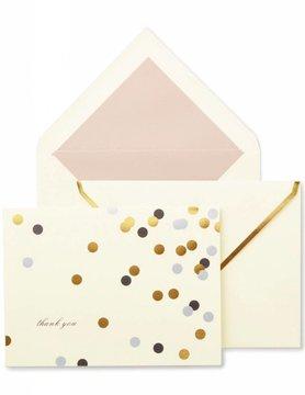 Kate Spade Thank You Notecard Set, Confetti Dot