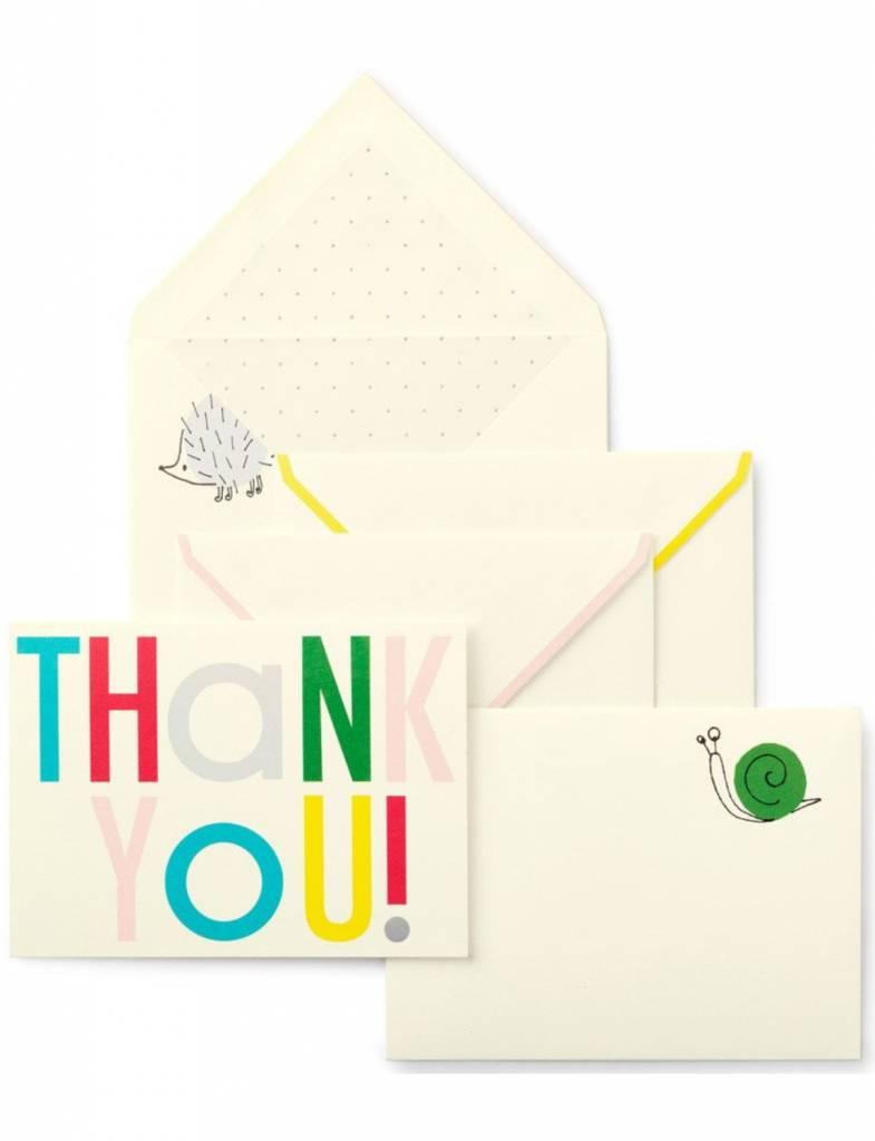 Kate Spade Thank You Notecard Set, Hey Baby