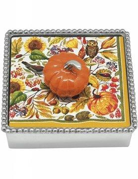 1285-C Orange Pumpkin Napkin Box
