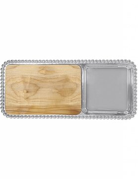 2714 Pearled Cheese & Cracker Server