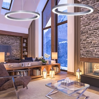 Delviro Energy Zip Cloud Ring Architectural Luminaire