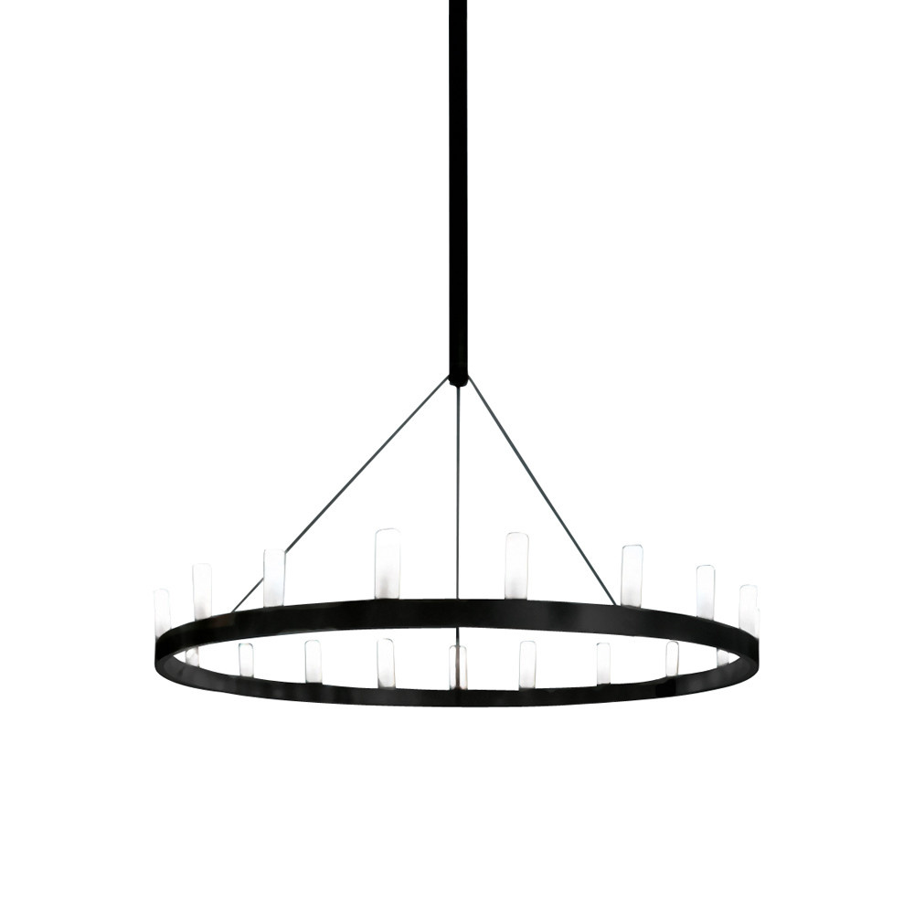 FontanaArte Chandelier Black Single