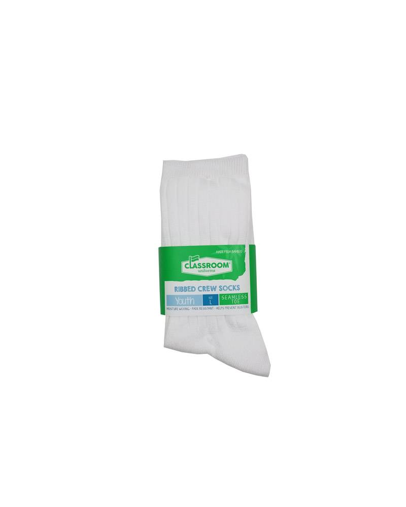 WHITE CREW SOCKS 3-PACK