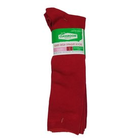 CLASSROOM RED OPAQUE KNEE HI SOCKS 3-PACK