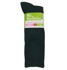 CLASSROOM GREEN OPAQUE KNEE HI SOCKS 3-PACK