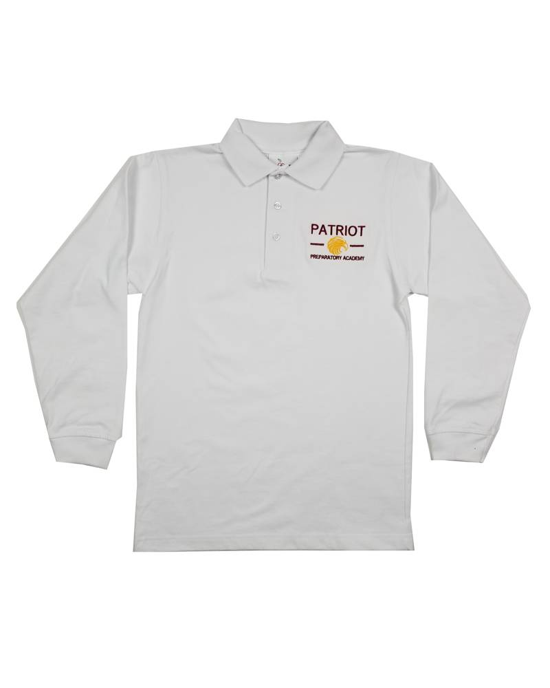 Elder Manufacturing Co. Inc. PATRIOT PREPARATORY ACADEMY  LS POLO SHIRT