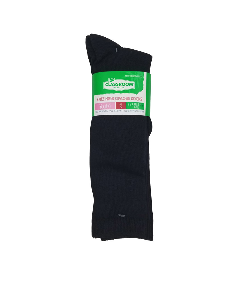 CLASSROOM NAVY OPAQUE KNEE HI SOCKS 3-PACK D