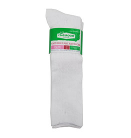 CLASSROOM WHITE CABLE KNEE HI SOCKS 3-PACK E