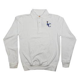 School Apparel, Inc. LEHMAN CATHOLIC LS BANDED BOTTOM POLO