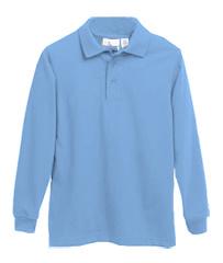 Elder Manufacturing Co. Inc. LONG SLEEVE  JERSEY KNIT SHIRT BLUE  E