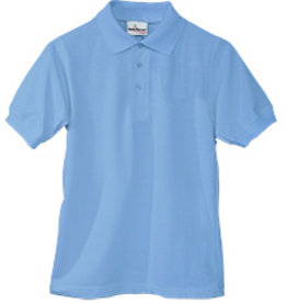 Elder Manufacturing Co. Inc. SHORT SLEEVE JERSEY KNIT SHIRT LT BLUE  E