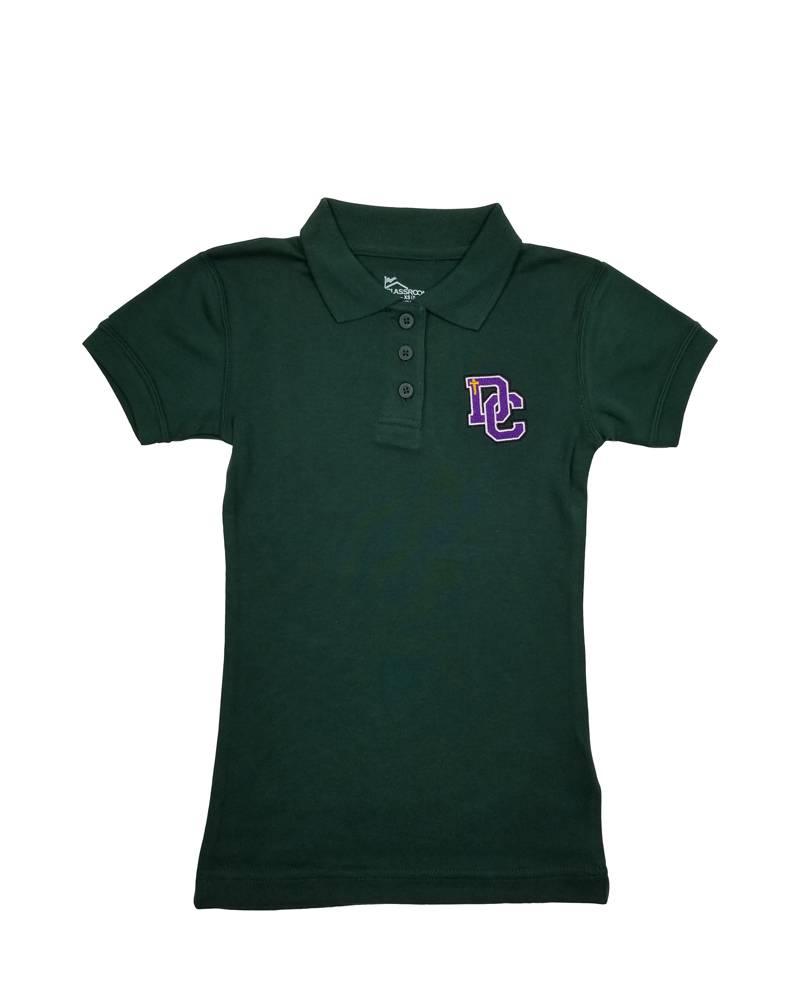 Classroom Uniforms Dayton Christian Girls SS Polo - Hunter