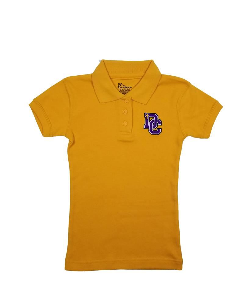 Classroom Uniforms Dayton Christian Girls SS Polo - Gold