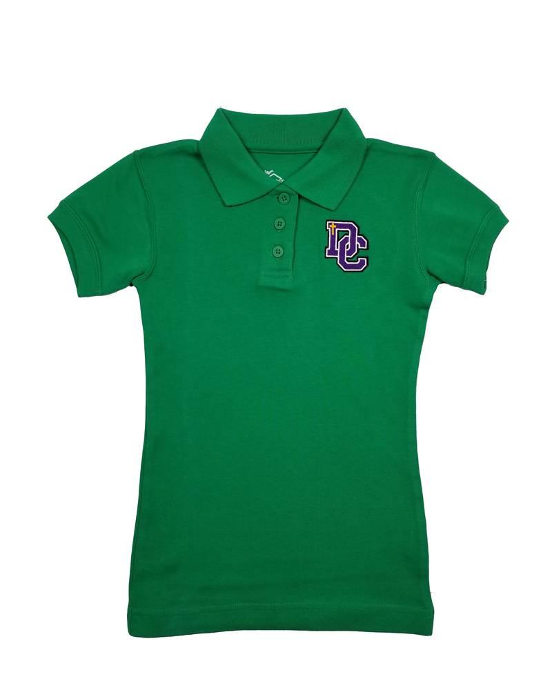 Classroom Uniforms Dayton Christian Girls SS Polo - Kelly