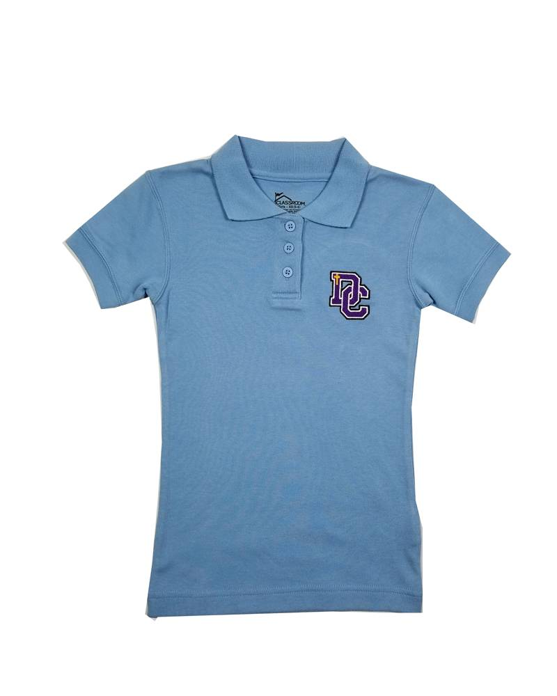 Classroom Uniforms Dayton Christian Girls SS Polo - Lt. Blue